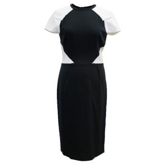 Roland Mouret Black and White Timarcha Paneled Dress