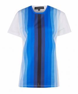 Jonathan Saunders Blue Hugo Digital Stripe T-Shirt