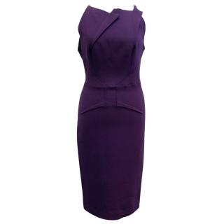 Roland Mouret Purple Structured Dress