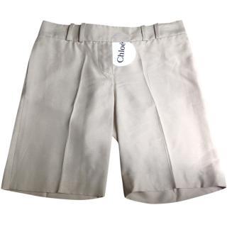Chloe silk shorts