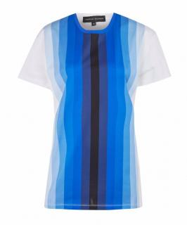 Jonathan Saunders Blue Hugo Digital Stripe T-Shirt