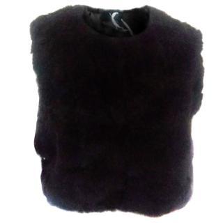 New Max Mara Waiscoat rabbit fur