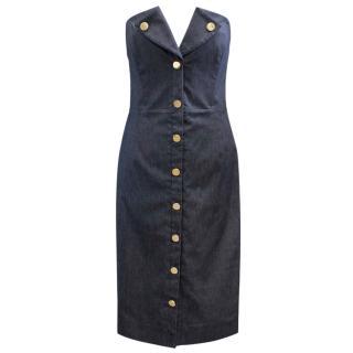Cushnie Et Ochs Denim Strapless Dress