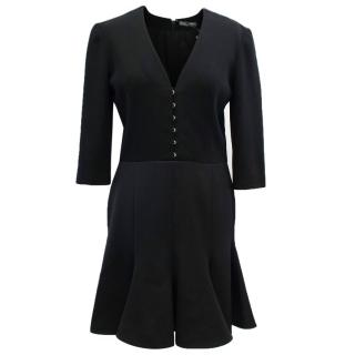 Alexander Mqueen Black Hook & Eye Dress