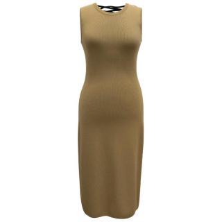 Altuzarra Khaki Body-Con Dress With Lace-Up Back