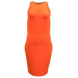 Gucci Bright Orange Body-Con Dress
