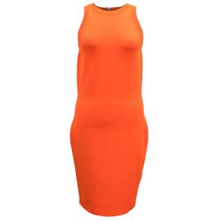 Gucci Bright Orange Body-Con Dress
