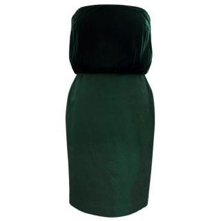 Tom Ford Bottle Green Strapless Dress