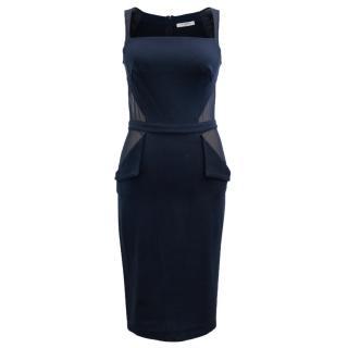 Givenchy Navy Mesh Cutout Dress