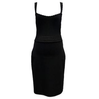 Dolce and Gabbana Black Crochet Dress