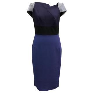 Roland Mouret Blue Lepas Dress