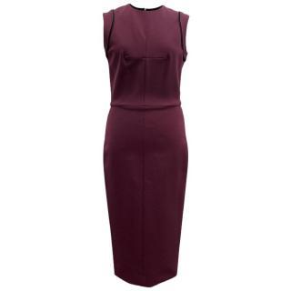 Victoria Beckham Purple Fitted Dress