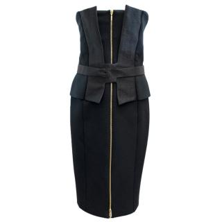 Amanda Wakeley Navy Corset Dress