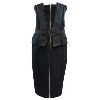 Amanda Wakeley Navy Corset Dress