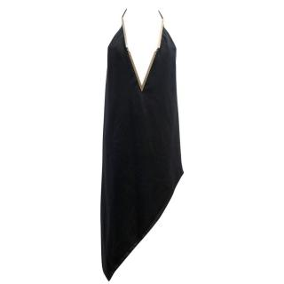 Anthony Vaccarello Black Backless Asymmetric Dress