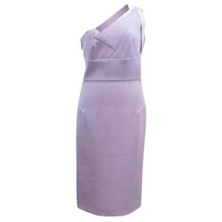 Roland Mouret Lilac One Shoulder 'Aglais' Dress