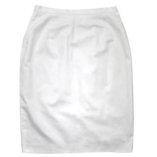 MaxMara white cotton summer skirt