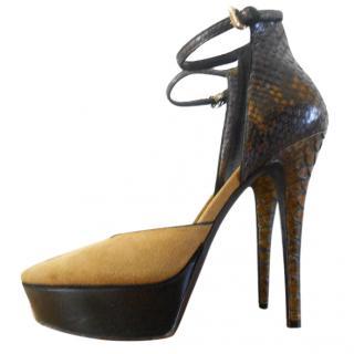 Burberry python heels