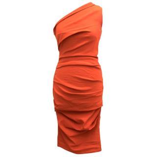 La Petite S***** Orange One Shoulder Dress