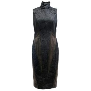 Donna Karan Black Color block Patchwork Sheath