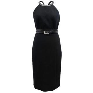 Michael Kors Black Halter Dress