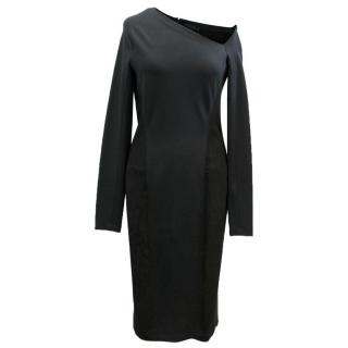 Donna Karan Black Long Sleeved Dress