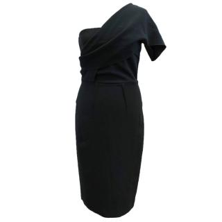 Roland Mouret Black One Shoulder Dress