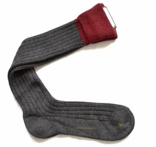 Bottega Veneta long grey wool socks
