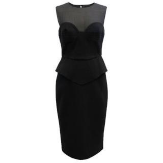 Emilio Pucci Black Sheer Top Sleeveless Dress