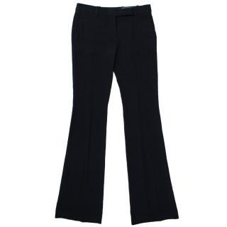 Alexander McQueen Black Wide Leg Trousers
