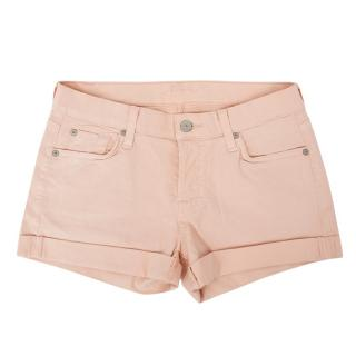 7 For All Mankind Light Pink Glitter Shorts
