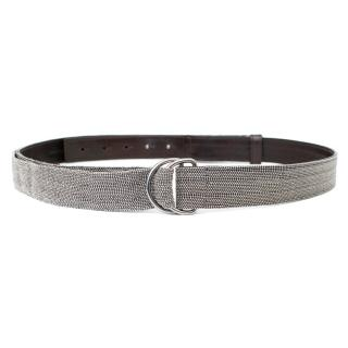 Brunello Cucinelli Chain Belt with Brown Leather