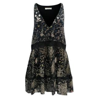 Chloe Black Floral Print Dress