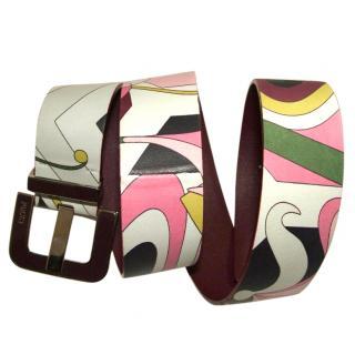 Emilio Pucci Leather Belt