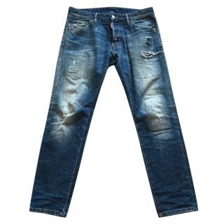 DSquared Blue Men's Distressed Denim Jeans
