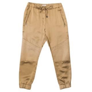 Brunello Cucinelli Gold Silk Trousers