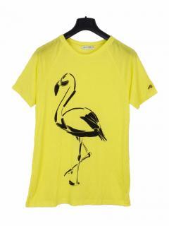 Bella Freud flamingo yellow T-shirt