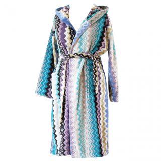 Missoni Home Unisex hooded bathrobe