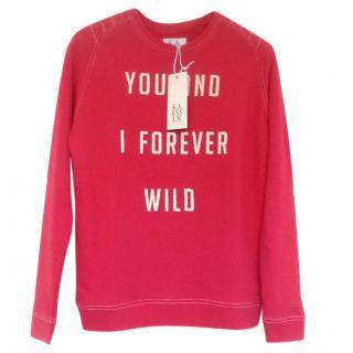 Zoe Karssen 'You And I Forever Wild' Red Sweatshirt