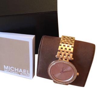 Michael Michael Kors Rose Gold Coloured Metal Watch