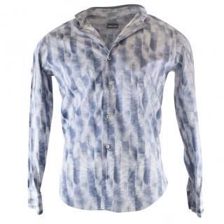 Giorgio Armani Men's Blue Shirt