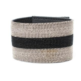 Brunello Cucinelli Beaded Rugby Stripe Bracelet