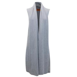 Missoni Grey Knit Sleeveless Cardigan