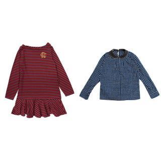 Marni Print Top & Ralph Lauren Stripe Dress Set