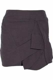 Iro 'Alixie' Gathered Asymmetric Mini Skirt