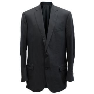 Ermenegildo Zegna Men's Blue Check Blazer