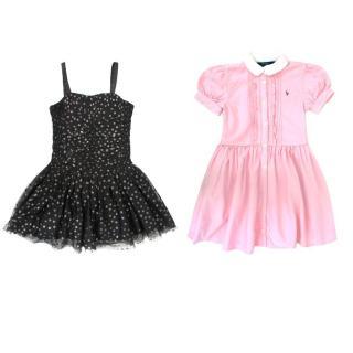 Stella McCartney Kids Black Dress & Ralph Lauren Polo Pink Dress