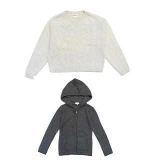 C de C Grey Knitted Hoodie & Bellerose Oatmeal Jumper