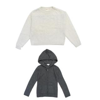 C de C Grey Knitted Hoodie & Bellerose Oatmeal Jumper