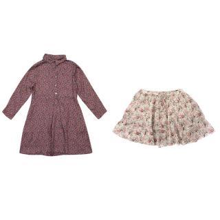 Bonpoint Floral Skirt and Bellerose Floral Dress Set